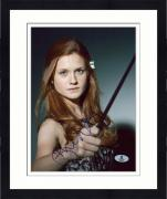 "Framed Bonnie Wright Autographed 8"" x 10"" Harry Potter Wand Photograph - Beckett COA"