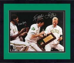 "Framed Boston Celtics Bird, McHale, and Parish Autographed 16"" x 20"" Photo"