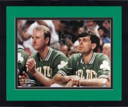 "Framed Boston Celtics Larry Bird and Kevin McHale Autographed 16"" x 20"" Photo"