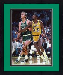 Framed Boston Celtics Larry Bird Autographed 8'' x 10'' Photo