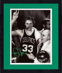 "Framed Boston Celtics Larry Bird Autographed 8"" x 10"" Photograph"