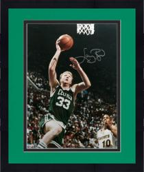 Framed Boston Celtics Larry Bird Autographed Photo - -