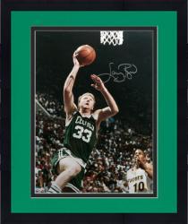 Framed Boston Celtics Larry Bird Autographed Photo - -