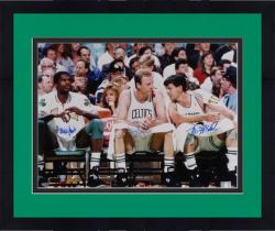 "Framed Boston Celtics Robert Parish, Larry Bird, and Kevin McHale Autographed 16"" x 20"" Photo"
