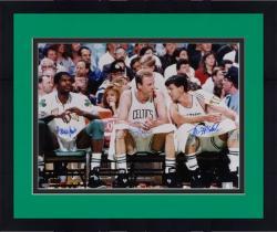 "Framed Boston Celtics Robert Parish, Larry Bird, and Kevin McHale Autographed 16"" x 20"" Photo"