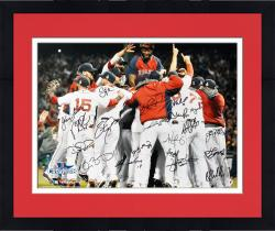 "Framed Boston Red Sox 2013 World Series Champions Team Autographed 16"" x 20"" Photograph with 20 Signatures"