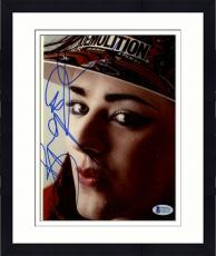"Framed Boy George Autographed 8""x 10"" Wearing Demolition Hat Photograph - Beckett COA"