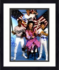 "Framed Boy George, Roy Hay, Mikey Craig, & Jon Moss Autographed 11""x 14"" Culture Club Posing With Baseball Bats Photograph- PSA/DNA LOA"