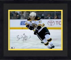 "Framed Brad Marchand Boston Bruins Autographed 16"" x 20"" White Uniform Skating Photograph"