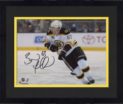 "Framed Brad Marchand Boston Bruins Autographed 8"" x 10"" White Uniform Skating Photograph"