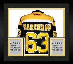 Framed Brad Marchand Boston Bruins Autographed Reebok Premier Jersey