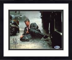 """Framed Brad Pitt Autographed 8"""" x 10"""" Seven In Rain Photograph - Beckett COA"""