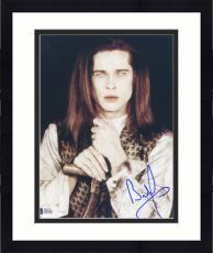 "Framed Brad Pitt Autographed 8""x 10"" Interview With The Vampire Holding Cross Photograph - Beckett COA"