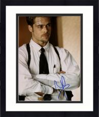 """Framed Brad Pitt Autographed 8""""x 10"""" Seven With Arms Crossed Photograph - Beckett COA"""