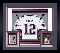 Tom Brady Autographed Patriots Pro Jersey - Deluxe Framed