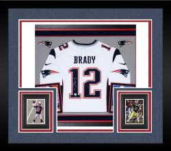 Tom Brady Autographed Patriots Pro Jersey - Deluxe Framed