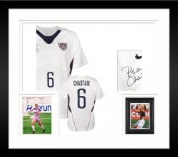 Framed Brandi Chastain Team USA Autographed White Jersey