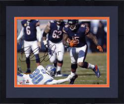 "Framed Brandon Marshall Chicago Bears Autographed 8"" x 10"" Horizontal Running Photograph"