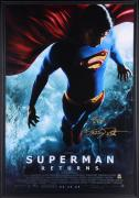 Framed Brandon Routh Autographaed Superman Returns Final Original Poster: 27x40
