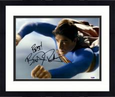 """Framed Brandon Routh Autographed 11"""" x 14"""" Superman Flying Photograph with Best! Inscription - PSA/DNA"""