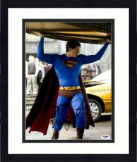 """Framed Brandon Routh Autographed 11"""" x 14"""" Superman Holding Car Photograph with Best! Inscription - PSA/DNA"""
