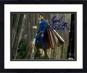 """Framed Brandon Routh Autographed 11"""" x 14"""" Superman Photograph with Best! Inscription - PSA/DNA"""