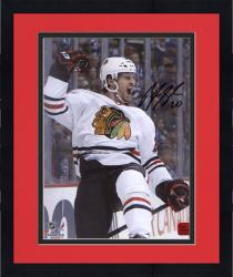 """Framed Brandon Saad Chicago Blackhawks 2013 Stanley Cup Champions Autographed 8"""" x 10"""" Celebrate Photograph"""