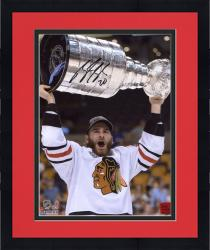 Framed Brandon Saad Chicago Blackhawks 2013 Stanley Cup Champions Autographed 8'' x 10'' with Cup Photograph