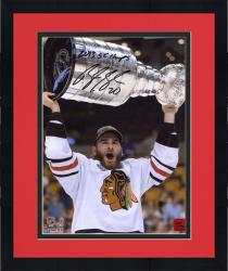 Framed Brandon Saad Chicago Blackhawks 2013 Stanley Cup Champions Autographed 8'' x 10'' with Cup Photograph with 2013 SC Champs Inscription