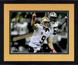 Framed Drew Brees New Orleans Saints Fanatics Authentic Autographed 16'' x 20'' Spotlight 48 Games With Touchdown Photograph