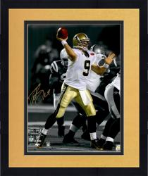 Framed Drew Brees New Orleans Saints Autographed 16'' x 20'' Spotlight Throw Photograph