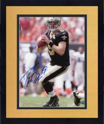 Framed Drew Brees New Orleans Saints Autographed 8'' x 10'' Throwing Stance Photograph