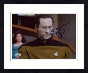 "Framed Brent Spiner Autographed 8"" x 10"" Star Trek Looking Down Photograph - Beckett COA"