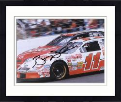 Framed Brett Bodine Autographed 8'' x 10'' Hooters In Car Photograph