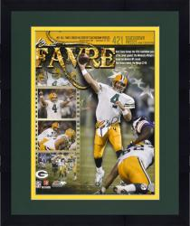 "Framed Brett Favre Green Bay Packers 421st Touchdown Collage Autographed 16"" x 20"" Photograph"