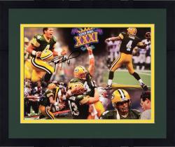 "Framed Brett Favre Green Bay Packers Autographed 16"" x 20"" Super Bowl Photograph"
