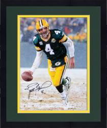 "Framed Brett Favre Green Bay Packers Autographed 16"" x 20"" The Flip Photograph"