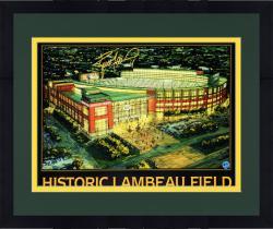"Framed Brett Favre Green Bay Packers Autographed 18"" x 24"" Historic Lambeau Photograph"