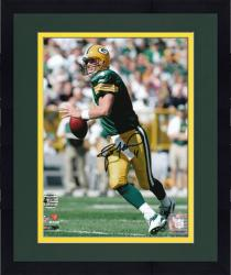 Framed Brett Favre Green Bay Packers Autographed 8'' x 10'' Roll Out Photograph