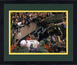 "Framed Brett Favre Green Bay Packers Autographed 8"" x 10"" Walking Away Photograph"