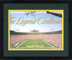 Framed Brett Favre Green Bay Packers Lambeau Field The Legend Continues Autographed 21'' x 36'' Panoramic Collage Photograph