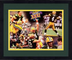 Framed Brett Favre Green Bay Packers Super Bowl XXXI Autographed 16'' x 20'' Photograph with SB XXXI Champs Inscription