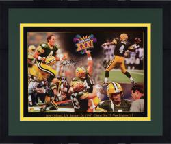 Framed Brett Favre Green Bay Packers Super Bowl XXXI Autographed 18'' x 24'' Collage Photograph