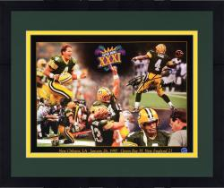 Framed Brett Favre Green Bay Packers Super Bowl XXXI Autographed 18'' x 24'' Collage Photograph with SBXXXI Champs Inscription