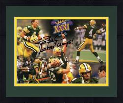 "Framed Brett Favre Green Bay Packers Super Bowl XXXI Champions Autographed 8"" x 10"" Photograph with SB XXXI Champs Inscription"