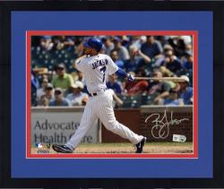 "Framed Brett Jackson Chicago Cubs Autographed 8"" x 10"" Photograph"