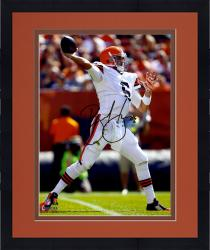 Framed Brian Hoyer Cleveland Browns Autographed 8'' x 10'' Over The Top Throw Photograph