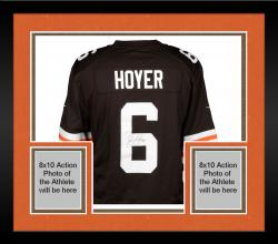 Framed Brian Hoyer Cleveland Browns Autographed Brown Jersey