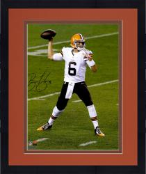 """Framed Brian Hoyer Cleveland Browns Autographed Throwing 16"""" x 20"""" Photograph"""