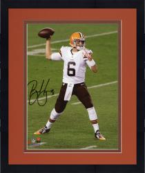 """Framed Brian Hoyer Cleveland Browns Autographed Throwing 8"""" x 10"""" Photograph"""